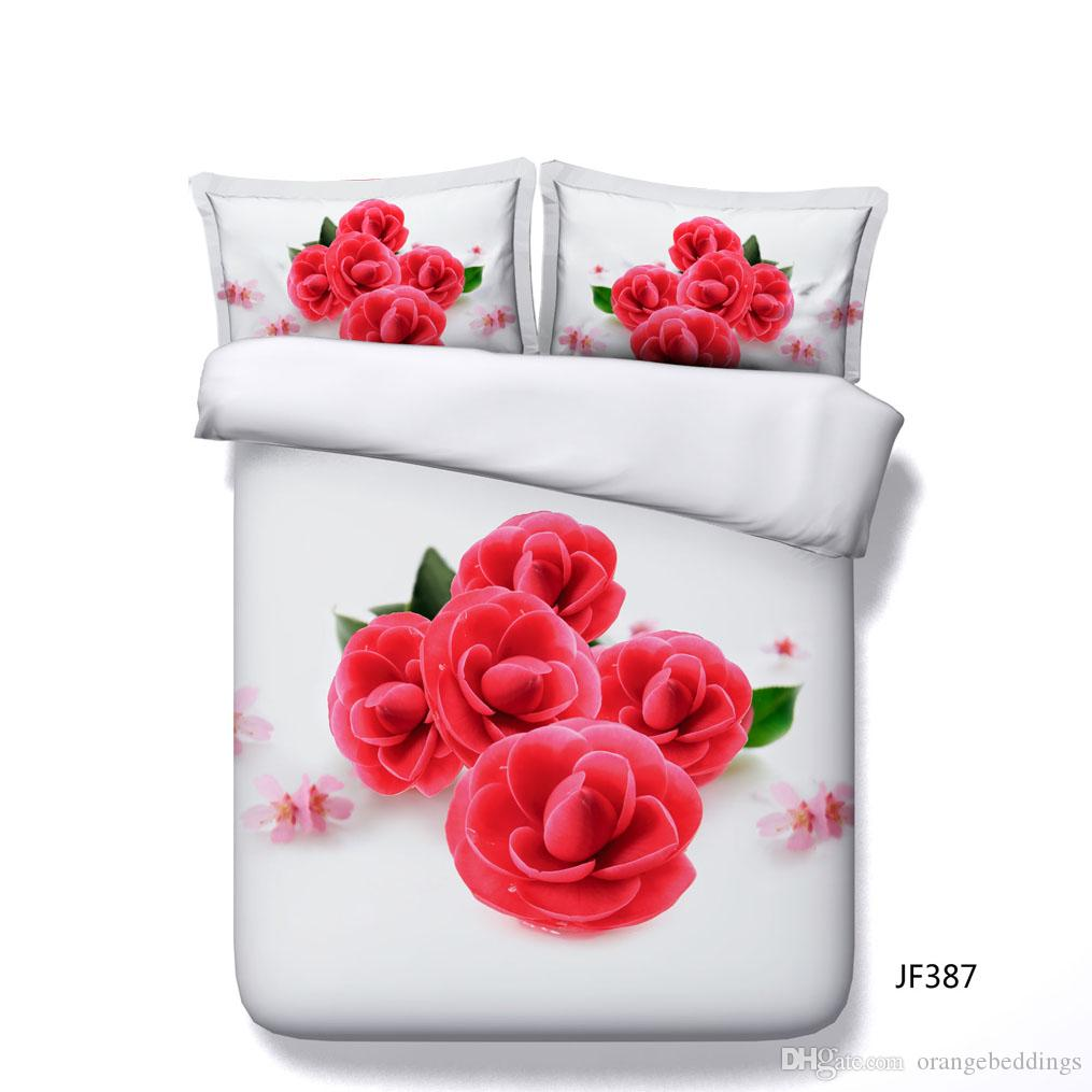 red rose bedding sets love heart duvet