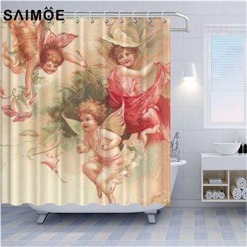 2021 three little angel shower curtains