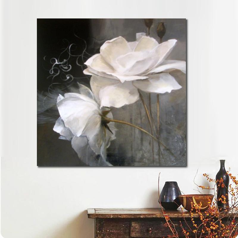 acheter nature morte peintures fleurs dans lart noir et blanc willem haenraets moderne sur la toile pour la decoration de la piece peinte a la main de