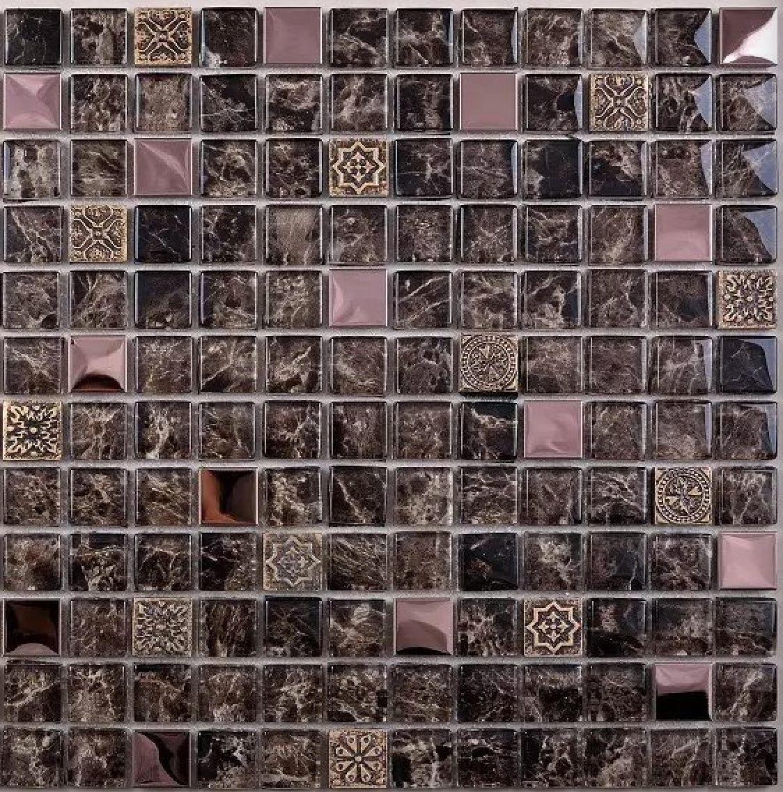 2021 brown glass mosaic tile backsplash