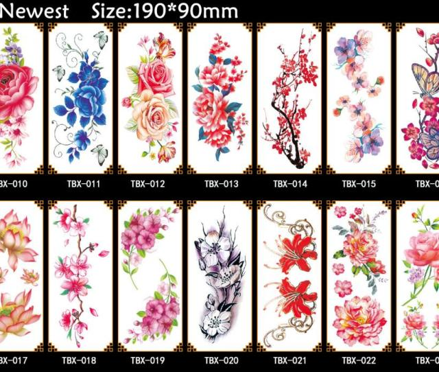 Fashion Sexy Flower Rose Waterproof Temporary Tattoo Sticker For