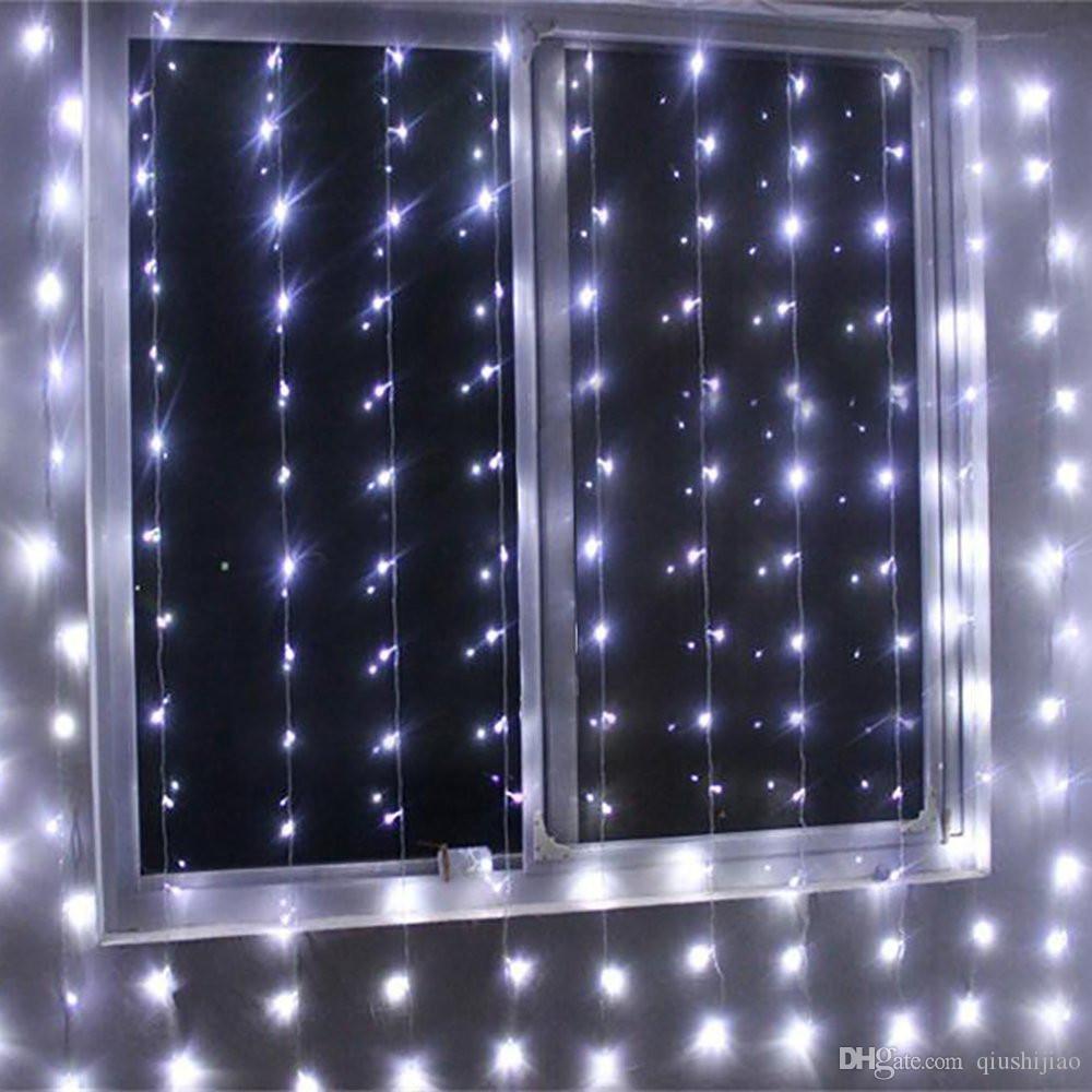 new 4m x 2m led window curtain string