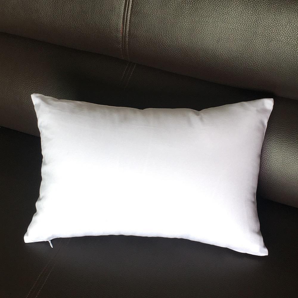 12x18 inches plain white lumbar pillow