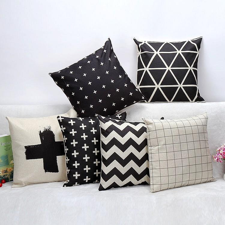 Black And White Outdoor Pillow Cover Cushion