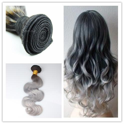 Black to dark grey ombre hair extensions the best hair 2017 7a ombre grey hair extensions dark root silver chinese pmusecretfo Choice Image
