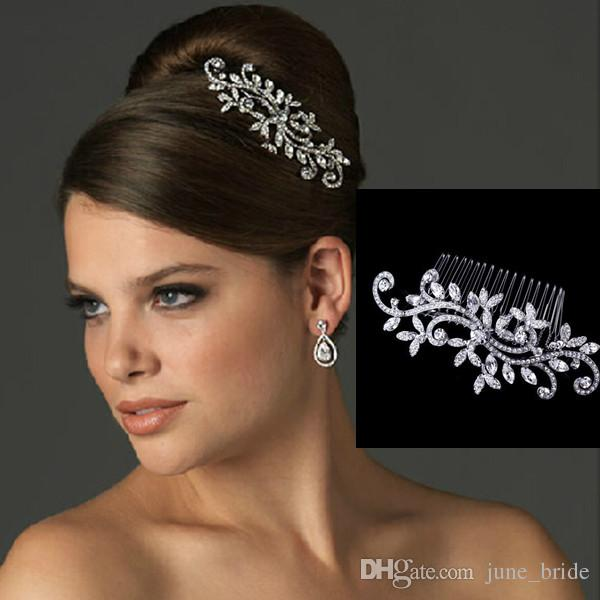 fancy wedding bridal hair comb jewelry flower crystal tiaras hair accessories sparkly bride hair combs in stock ready to ship bride headband bride