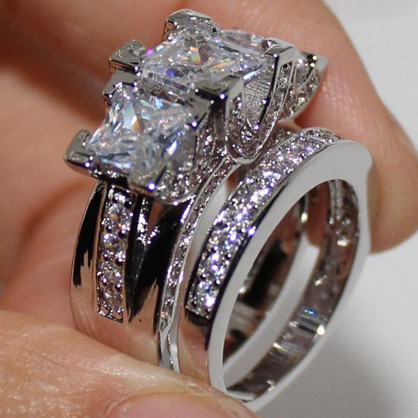 2019 EXCLUSIVE LadyS 925 Sterling Silver Square Simulated