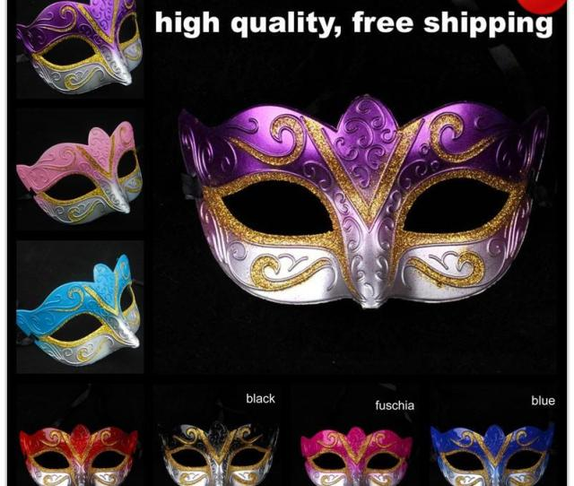 On Sale Party Masks Venetian Masquerade Mask Halloween Mask Sexy Carnival Dance Mask Cosplay Fancy Wedding Gift Mix Color Free Shipping