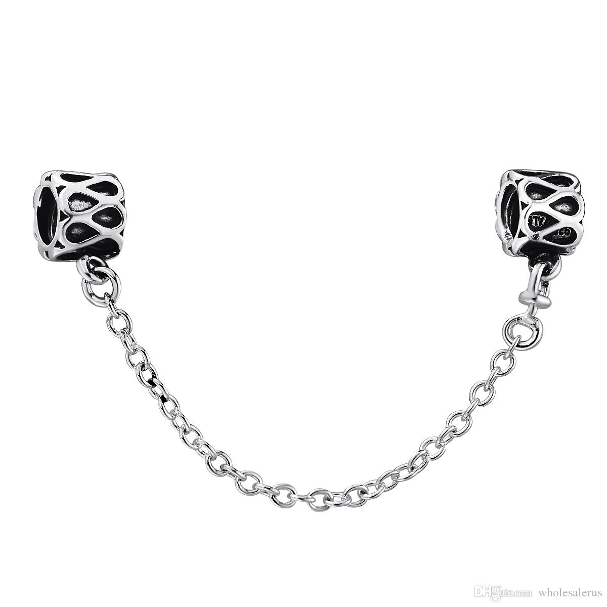 925 Sterling Silver Fashion Safety Chain Beads