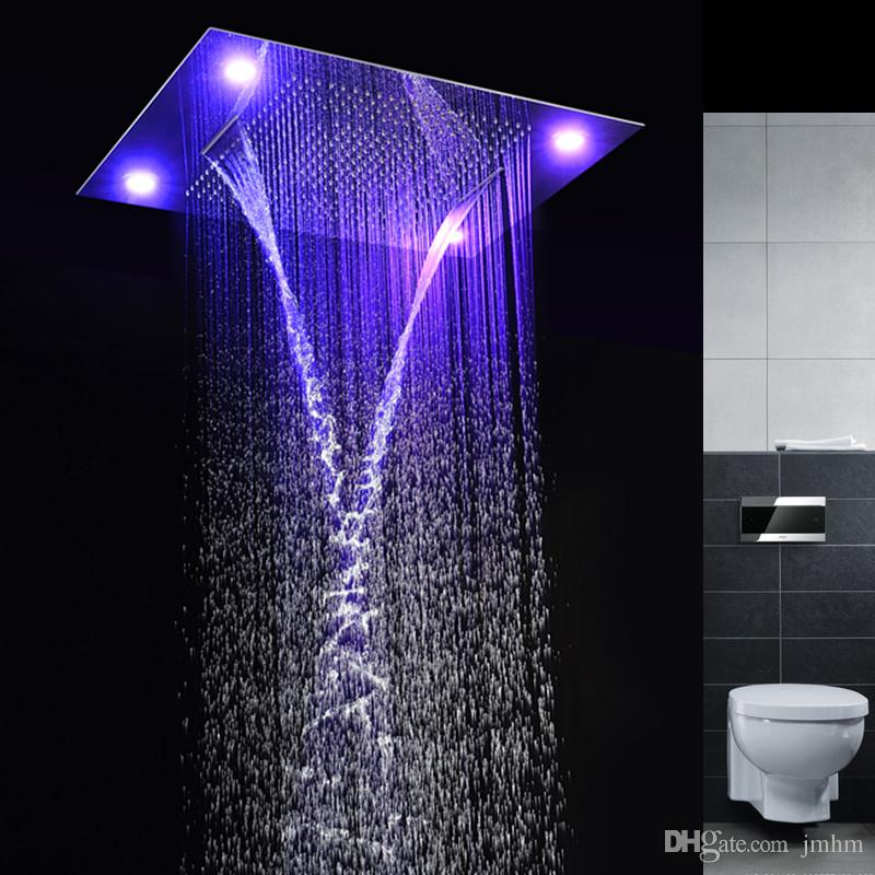 2019 Best Design LED Shower Heads 4 Function Concealed Embeded Ceiling Rainfall Waterfall