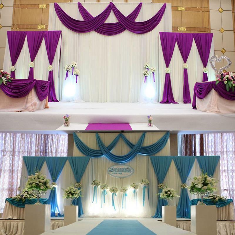 Satin Fabric Drape Curtain Party Wedding Celebration Stage ... on Draping Curtains Ideas  id=64545
