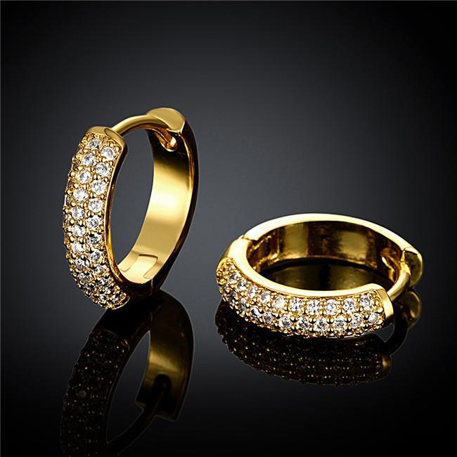2015 New Design 18K Gold Plated Swiss CZ Diamond Small