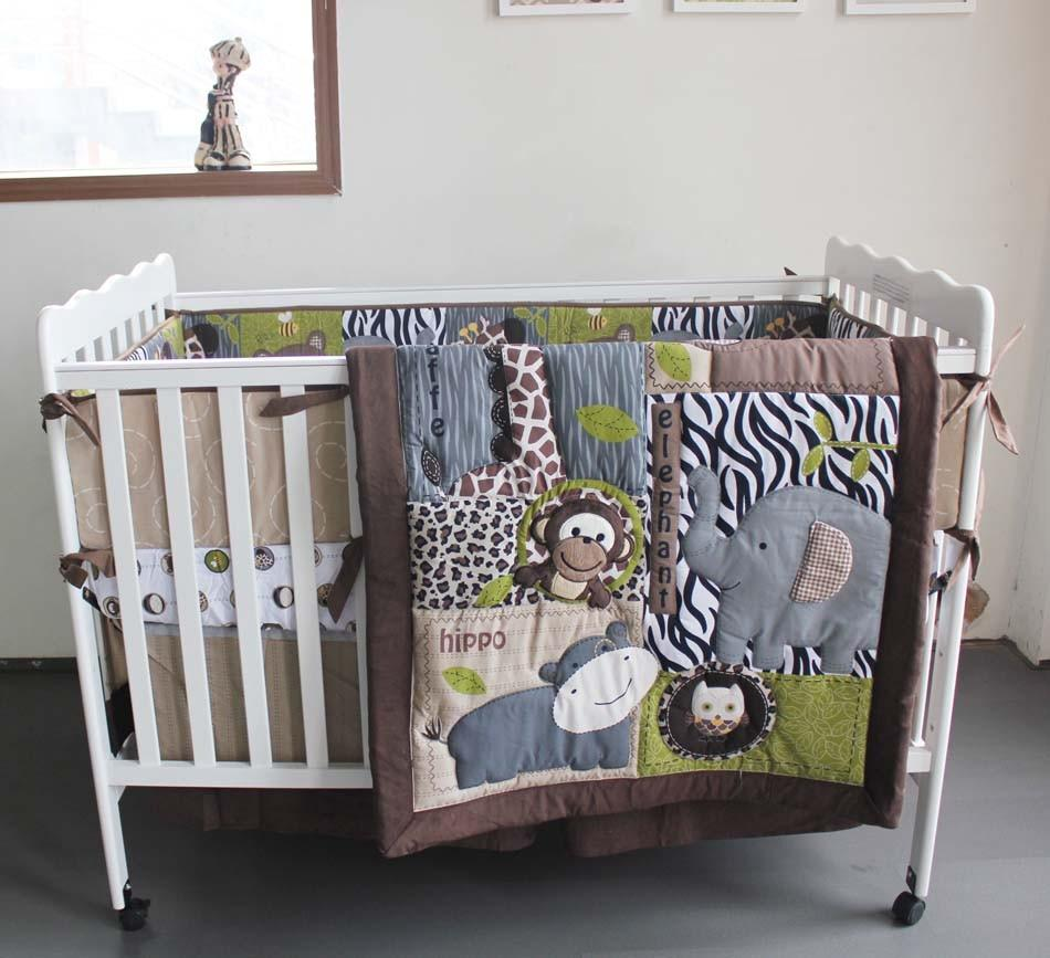 Boy Crib Bedding Set Baby Quilt Embroidery 3d Cartoon
