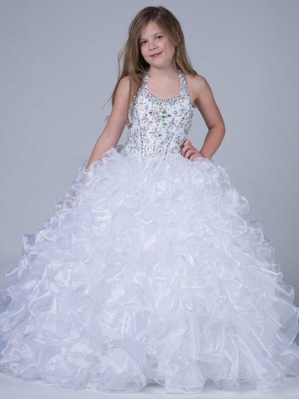 ̿̿̿(•̪ )Stock Pageant Dress Flower Girl Dress Ball Gowns Girl Kids ...