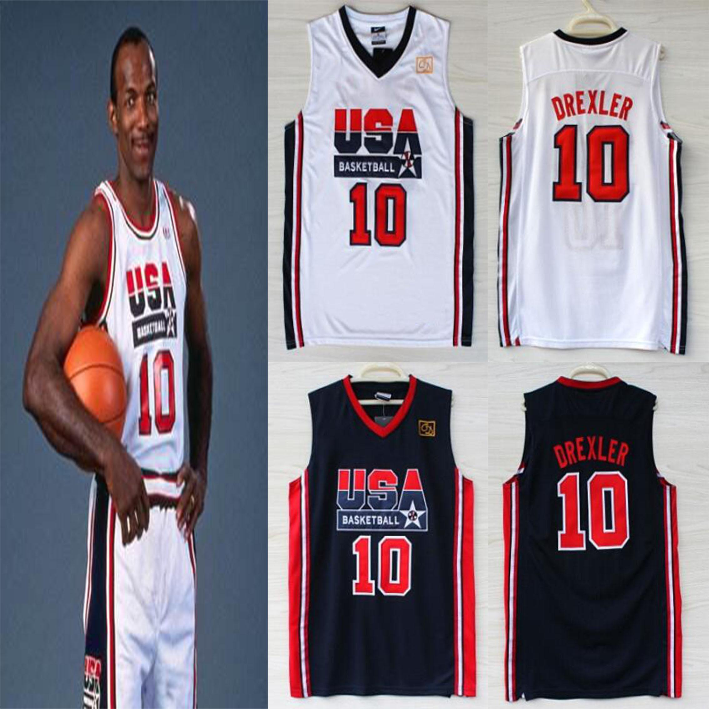 Us Usa Olympic Games Dream Team Clyde Drexler