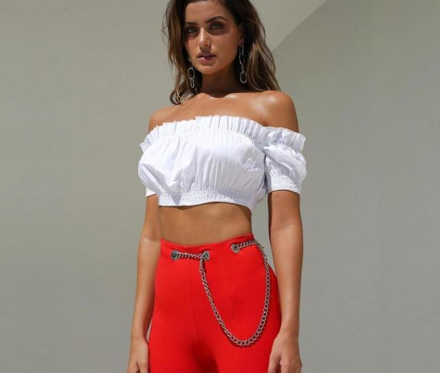 Nice Summer Women Sexy Short Sleeves Strapless Tube Top Chiffon White Black And Classic Printed Bandeau Slash Neck Crop Top Blouse Uk 2019 From Derrick1