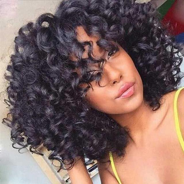 malaysian afro kinky curly weave menschenhaar-bundles können 3/4 bundles-haarverlängerung kaufen schÖnheit lueen nicht-remy-haarweberei