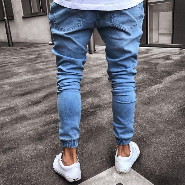 Compre Hot High Quality Teen Jeans Explosion Fashion Light Blue Tight Cintura Alta Pantalones Microelasticos S 4xl A 26 65 Del Boy_top2028 Dhgate Com