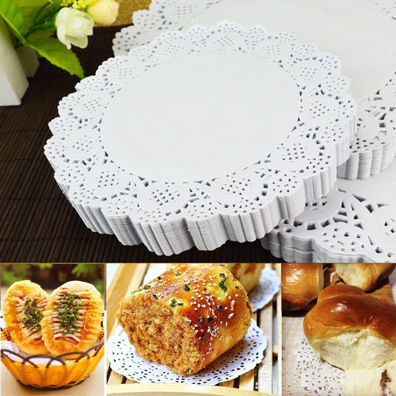 4 5 inch white round lace paper doilies doyleys vintage coasters placemat craft wedding christmas table decoration mats pads cheap mats pads 100 pcs 4 5