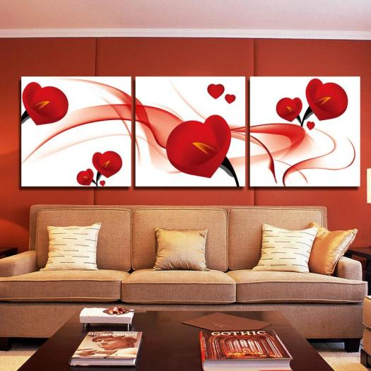 2018 Fashion Red Flower Modern Art Wall Painting Home Decoration Picture Paint On Canvas Frameless From Tian7777777 16 09 Dhgate Com