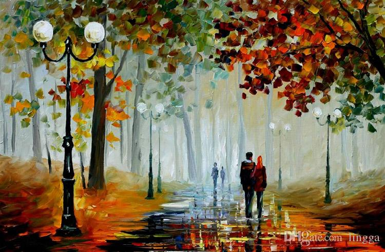 Image result for walk oil painting