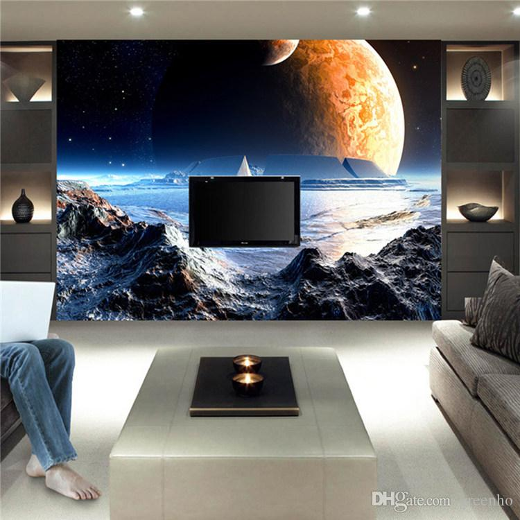 custom large size mural game scene moon space photo wallpaper