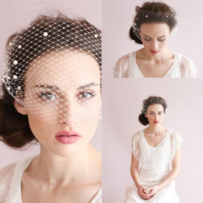 2019 wedding hair accessories romantic beautiful nice bridal lady accessories beading pearls handmade flowers net bridal veils cpa126