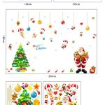 Christmas Decorations Christmas Tree Stickers Living Room Bedroom Removable Clear Pvc Wall Stickers Xmas Decals Home Wall Decor Stickers For Wall
