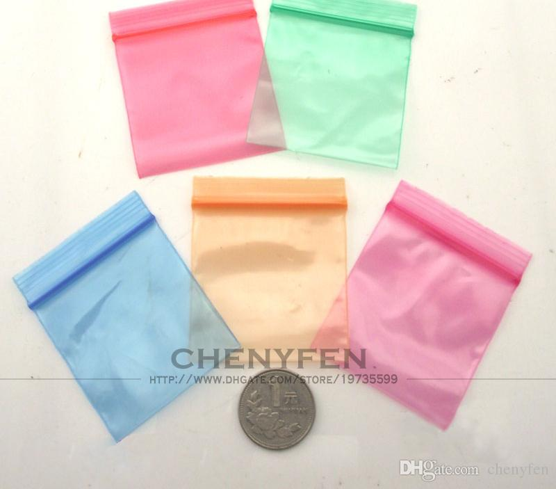 Color Clear Jewelry Ziplock Bag 5x6cm Baggies 2x24 1lot