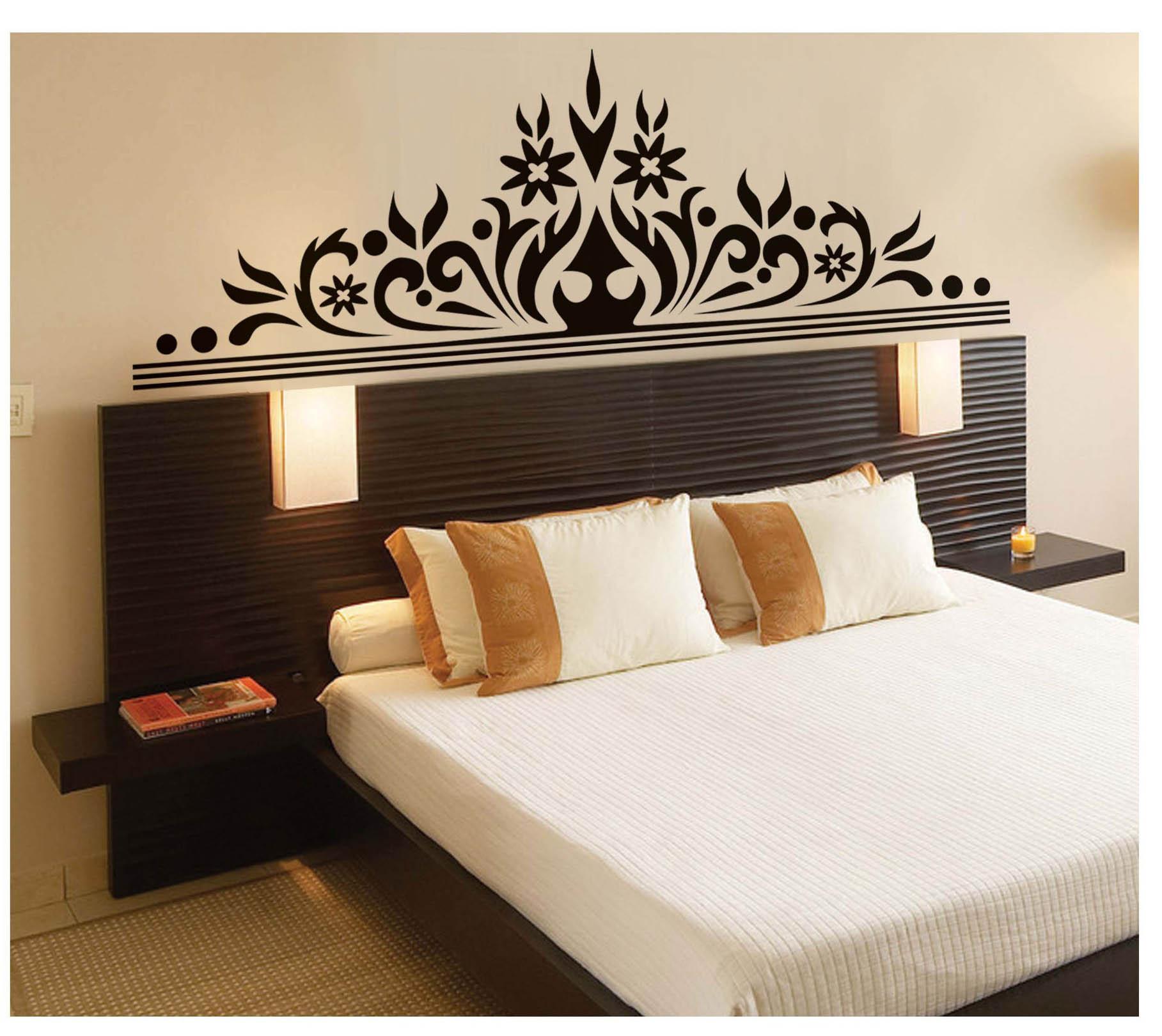 Bedroom Wall Art Decal Sticker Headboard Wall Decoration ... on Bedroom Wall Decor  id=58532