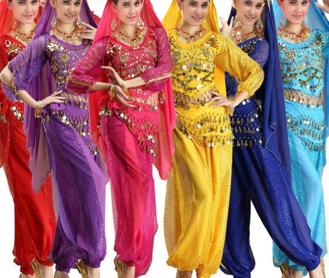 Pcs Sets Long Sleeve India Egyptian Adult Belly Dance Costumes Bollywood Costumes Indian Dress Bellydance Set Wear Dress Womens Belly Danci