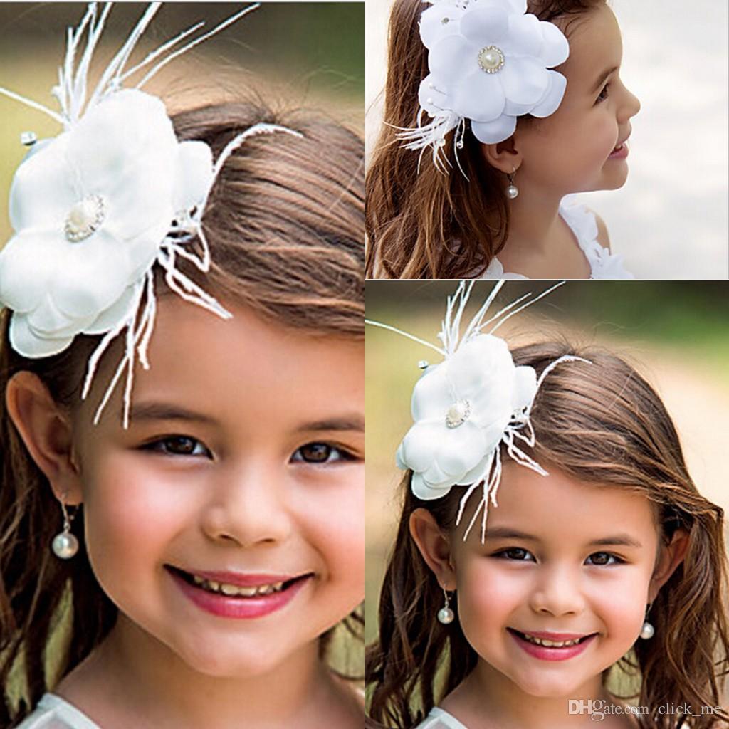 new flower girl hair accessories children tiaras fashion hair flowers wedding dress accessories girls cute flower princess headwear floral headpieces for