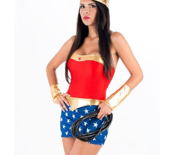 Classic Sexy America Movie Wonder Woman Fancy Dress Halloween Costume Uniform Temptation Famous Super Heroine Costume W From Hilllin