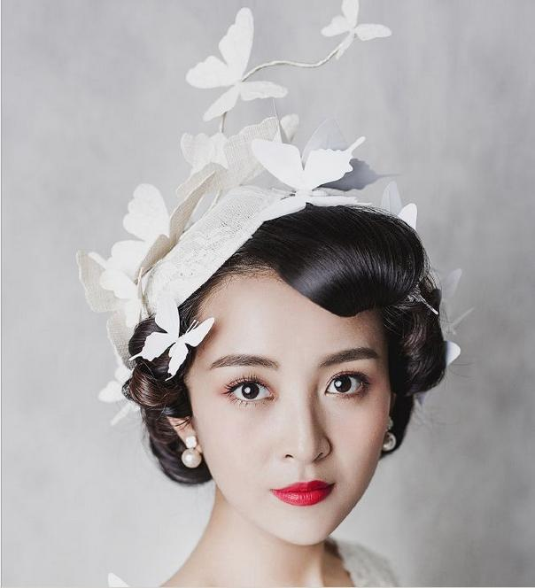 In Stock White Butterfly Crowns Tiaras With Clip 2016 Hot