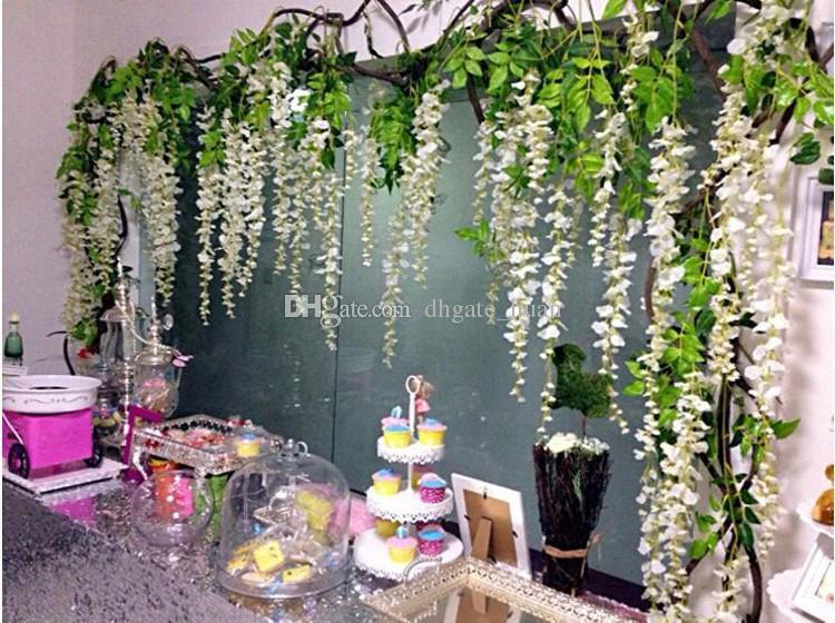 Best Quality Wisteria Wedding Decor 110cm 75cm Artificial
