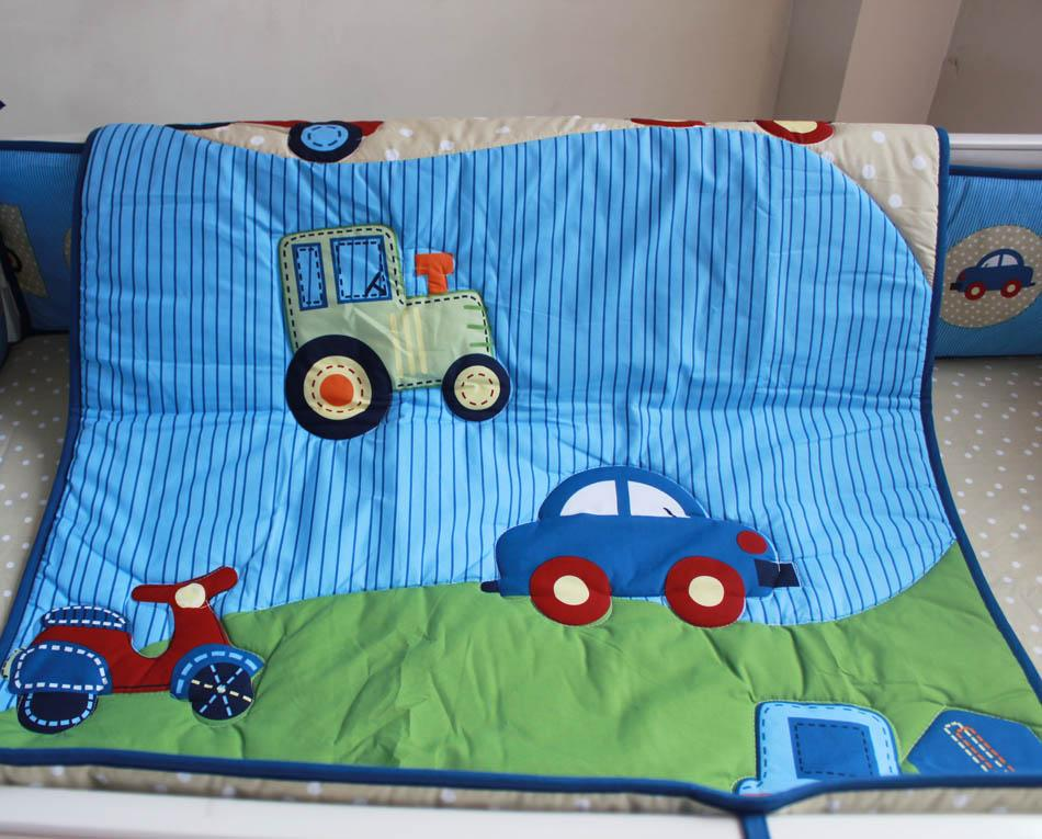 Wholesale 2016 Baby Bedding Set Embroidery Blue Car