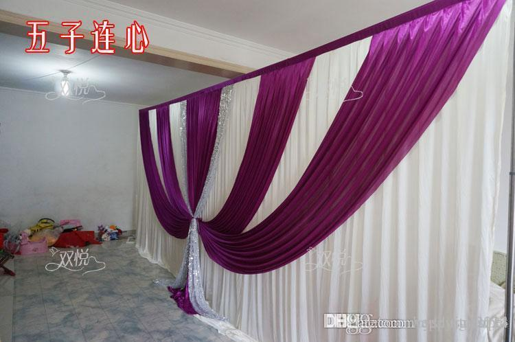 Wedding Drape Amp Pipe Set Wedding Curtain With Valance