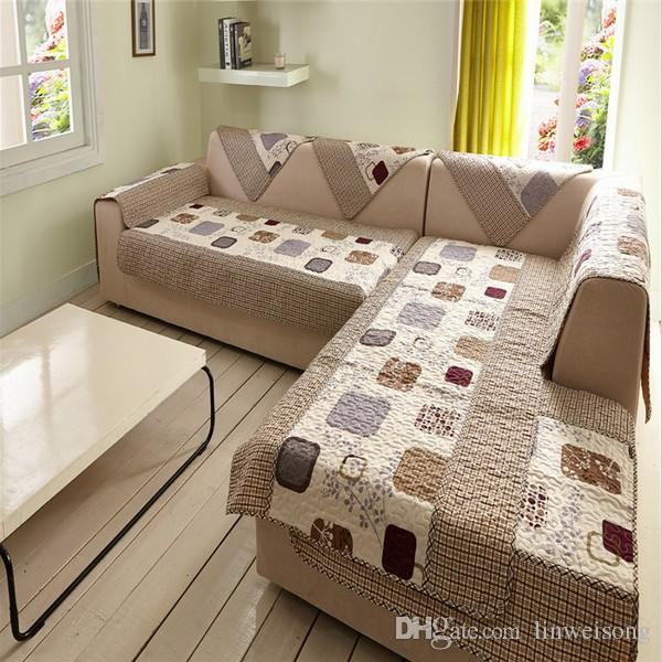 Durable Polyester L Shaped Sofa Covers Printed Cover Set Couch Cape Slip Resistance Sectional Machine Washable Dining Room Chair Seat