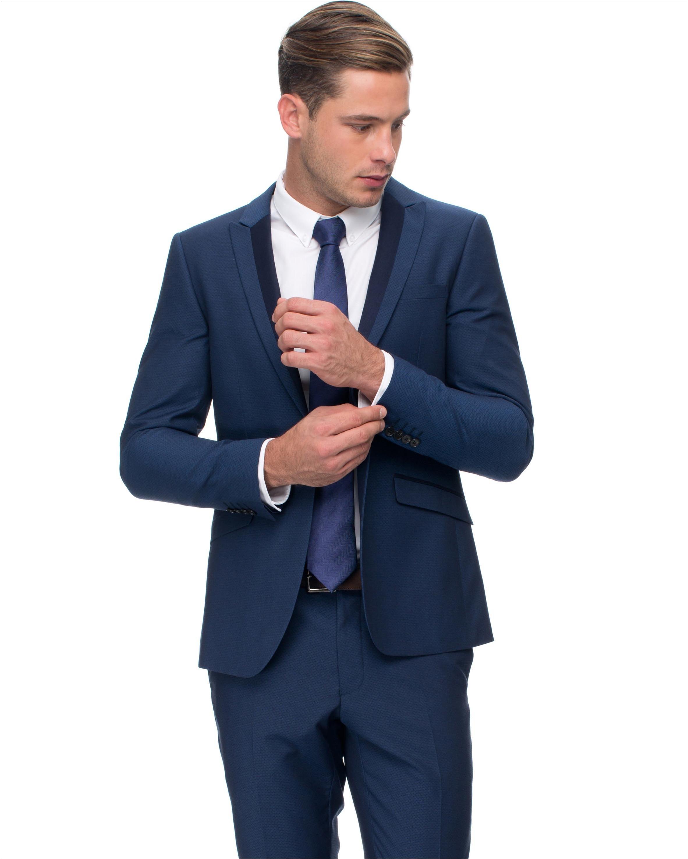 2015 New Custom Made Handsome Peaked Lapel Tuxedos Back