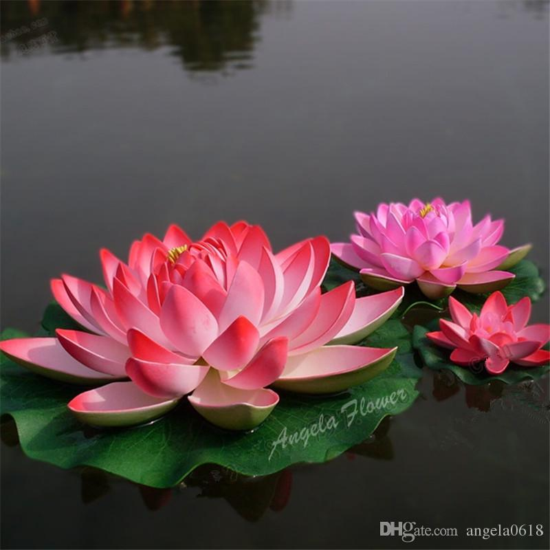 2018 30cm Eva Real Look Lotus Flowers Pond Home Swmming