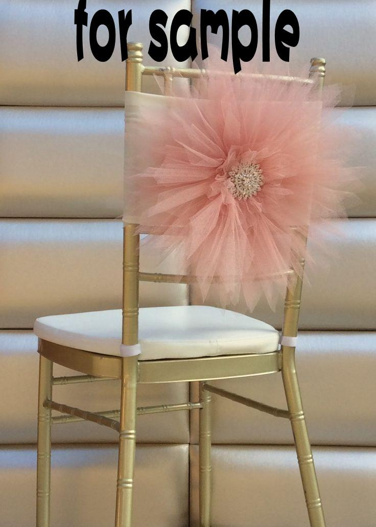 2018 Sample Of 2015 Wedding Chair Covers 3d Tulle Flower