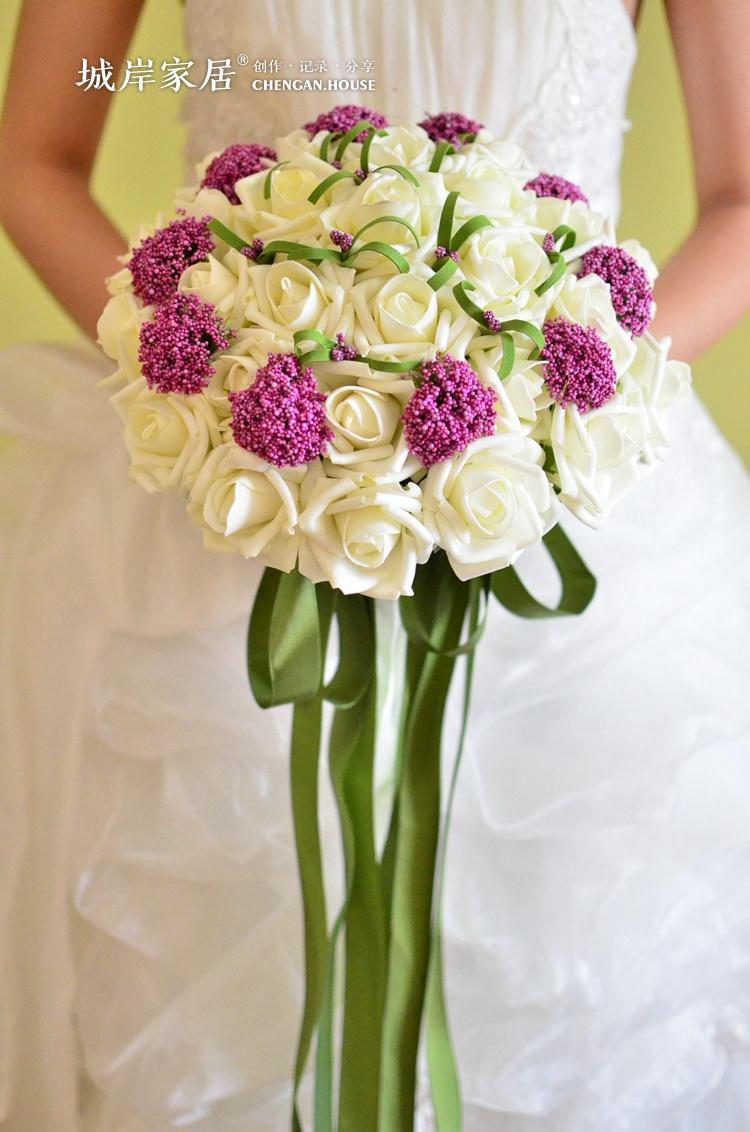 Hot Beautiful Wedding Bridal Bouquet Decorations Perfect