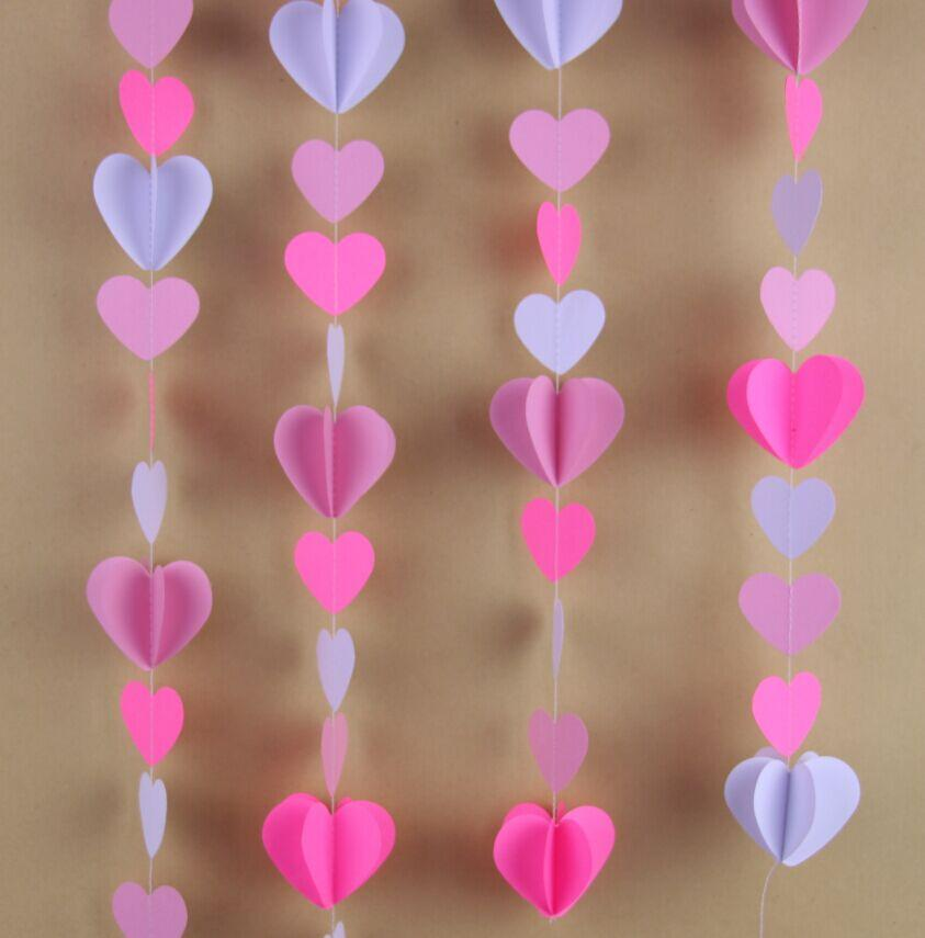 Pink Heart Garland For Wedding Backdrop Balloon String