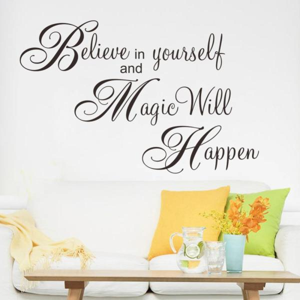 Magic Will Happen Inspiration Quote Wall Sticker Decal