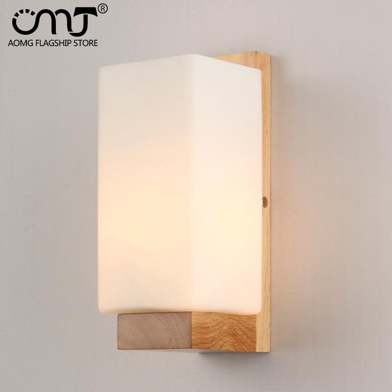 2019 2015 New Arrival LED Modern Wood Wall Lamp Glass ... on Wood Wall Sconces id=85475