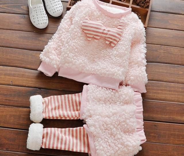 2019 2016 Cute Furry Girls Clothes Striped Baby Kids Sport Clothing Set Children Suit For 0 4 Years Old From Henyun_technology 23 37 Dhgate Com