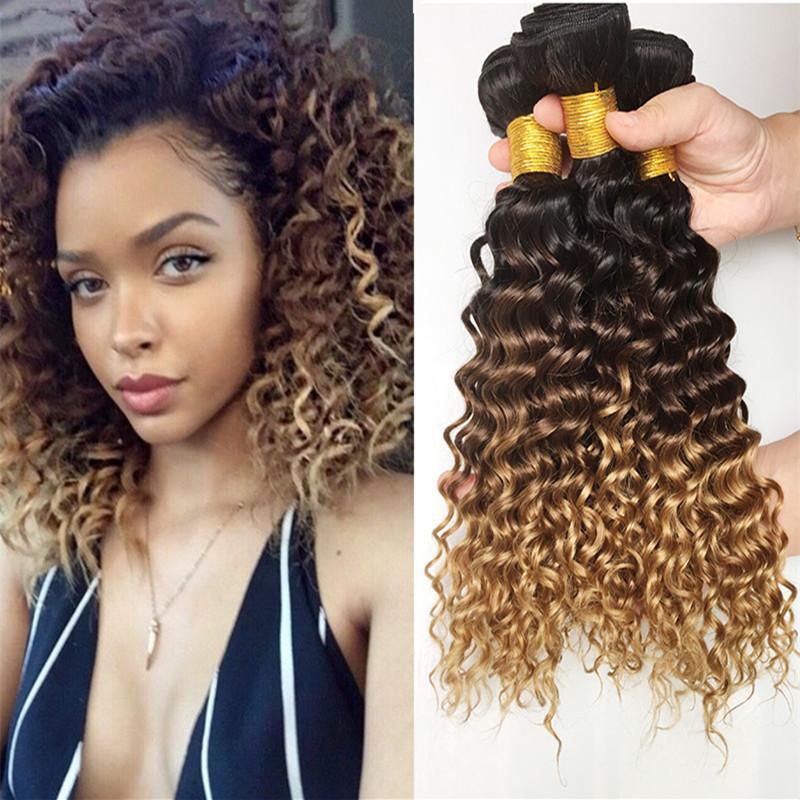 3 Bundle Deals 9A Ombre Peruvian Virgin Hair Weaves 1B 4