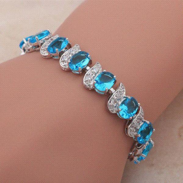2019 Royal Design Crystal 18K White Gold Plated Bracelets ...