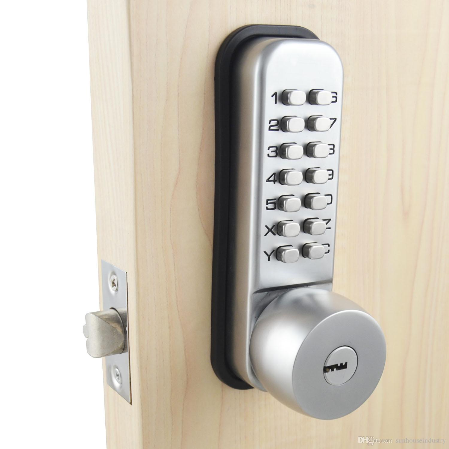2018 mechanical password door lock,bedroom code locks with 3 keys