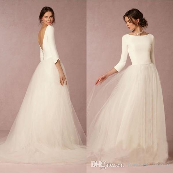 Discount Cheap Stunning Winter Wedding Dresses A Line